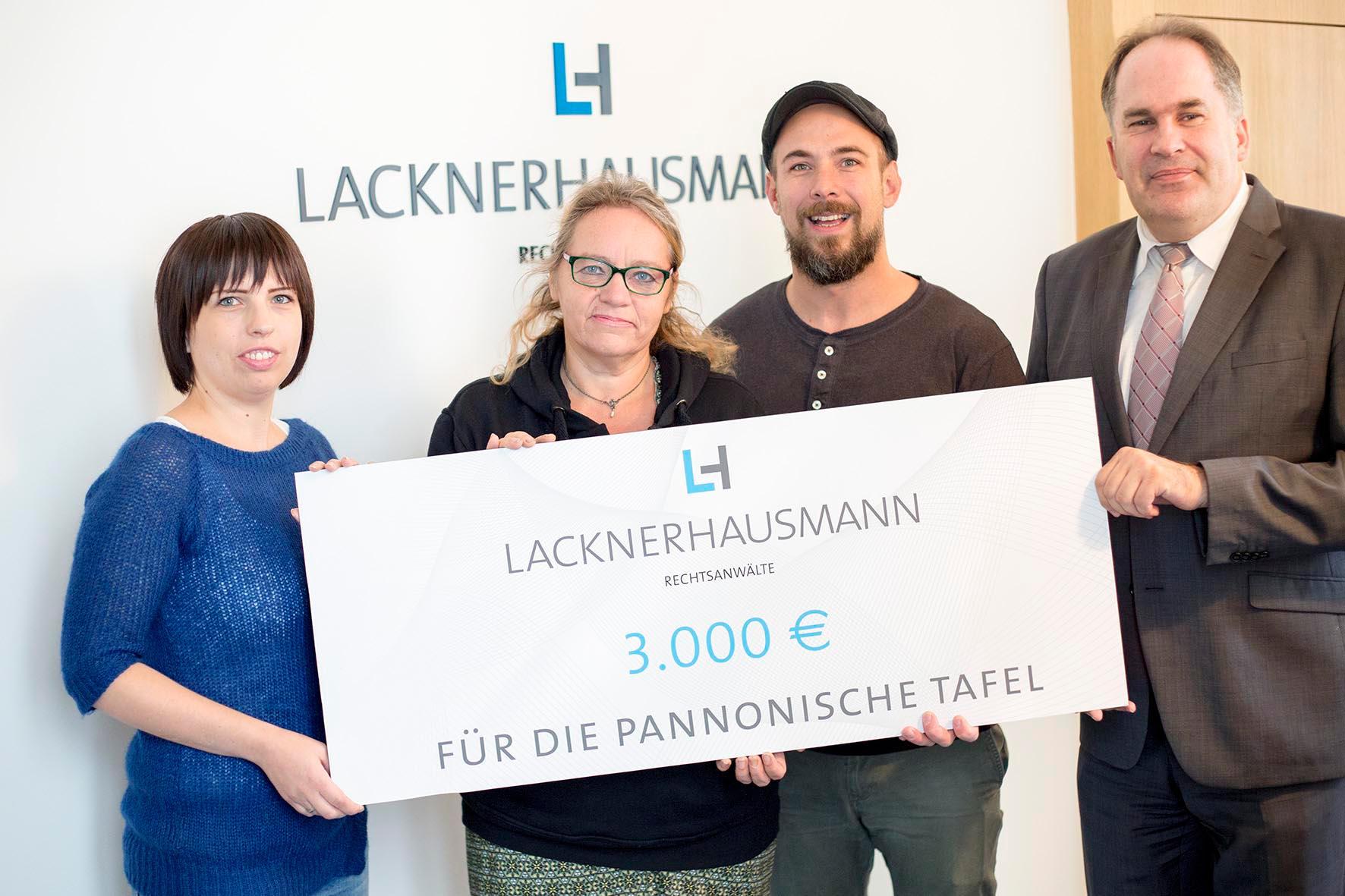3.000 Euro Spende für Pannonische Tafel